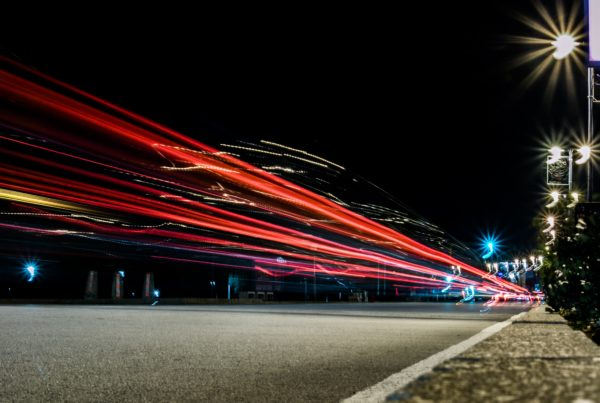 Taillights long exposure image