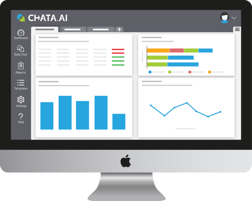 Chata Dashboard on iMac