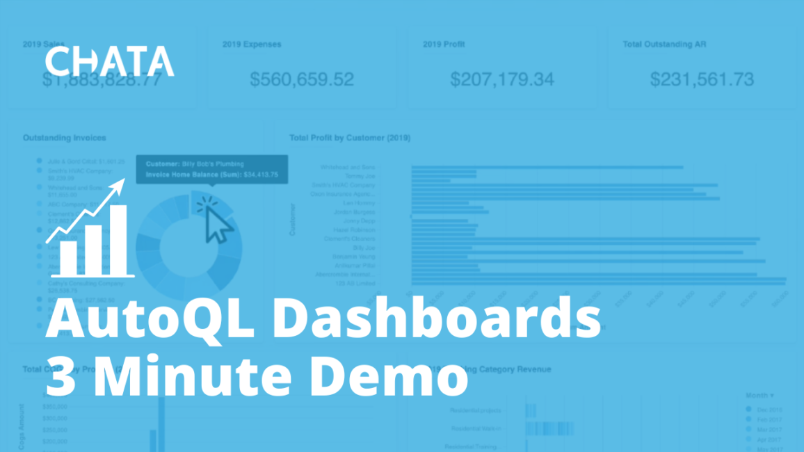 AutoQL Dashboards 3 Minute Demo
