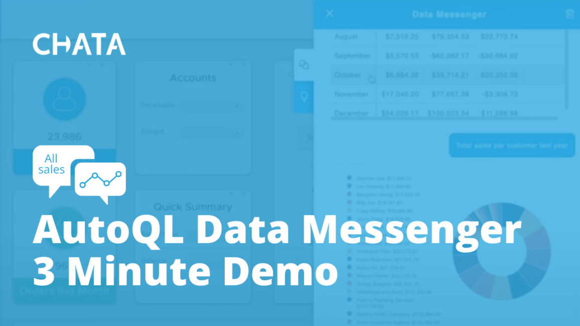 Conversational AI Resources: AutoQL Data Messenger 3 minute demo