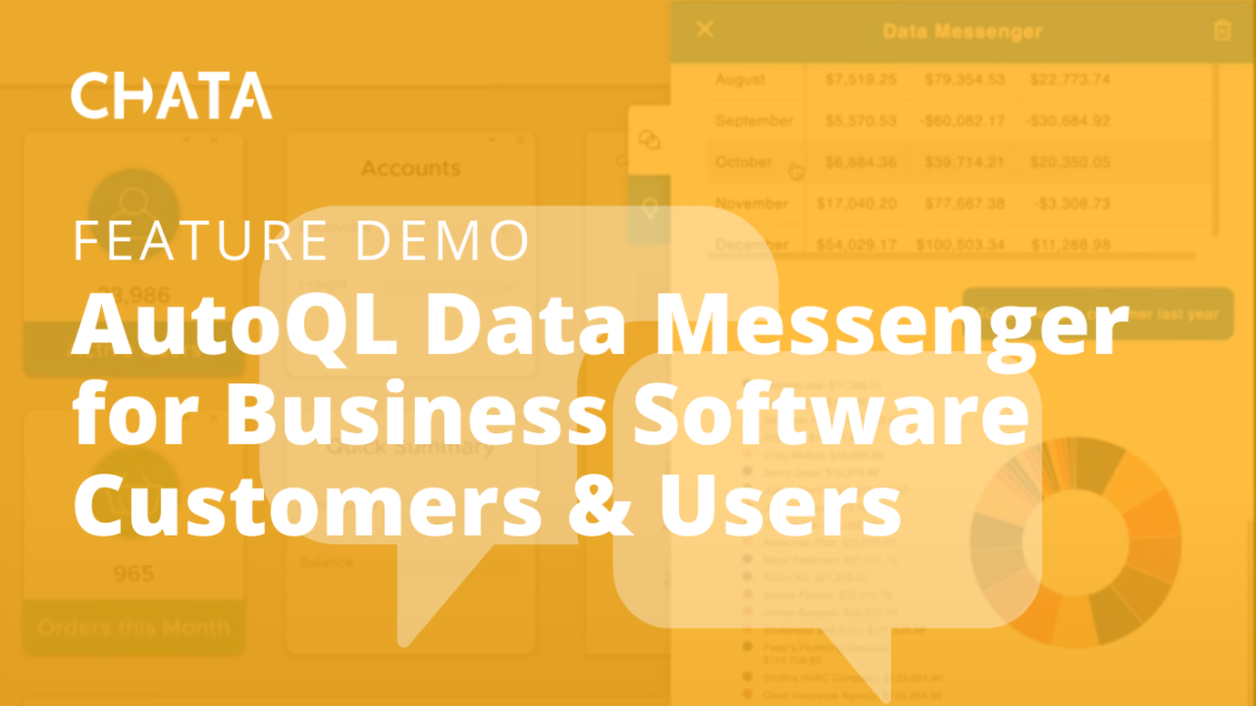 AutoQL Data Messenger for Business Software Customers & Users
