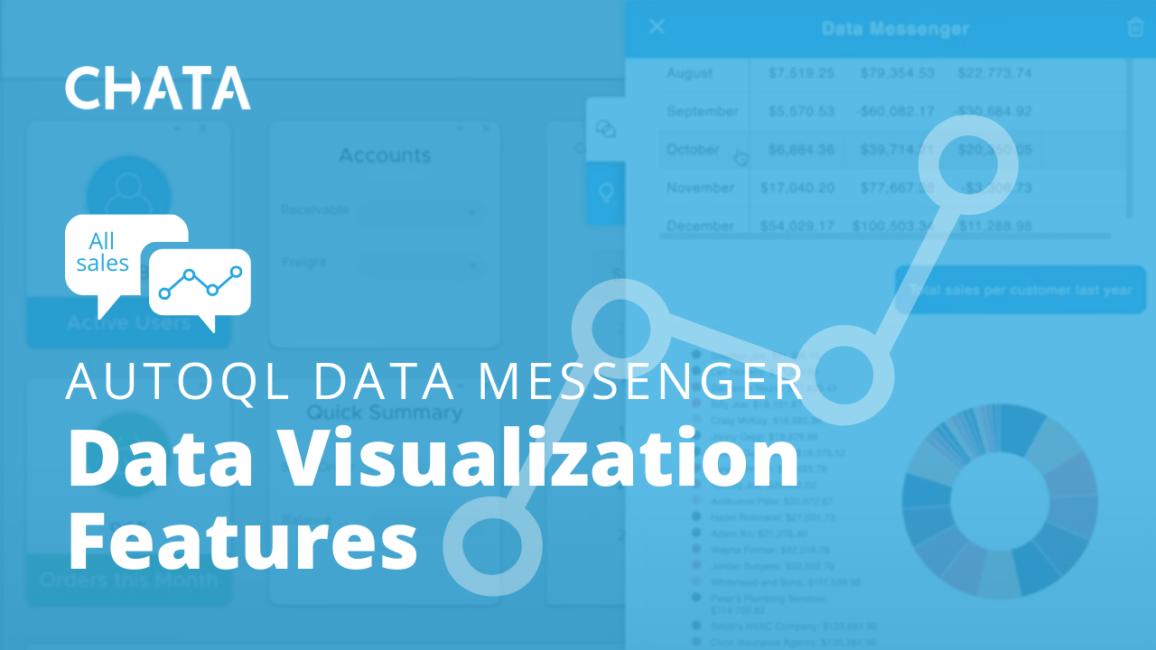 Conversational AI Resources: Data Visualization Features AutoQL Data Messenger