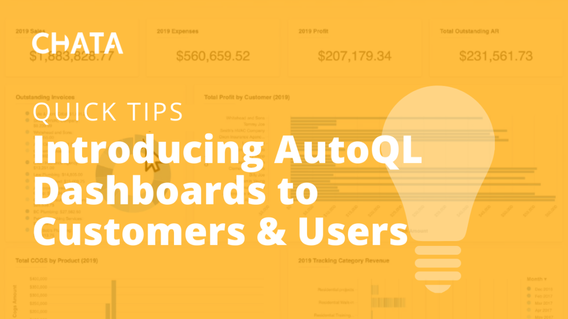 Introducing AutoQL Dashboards to Customers & Users
