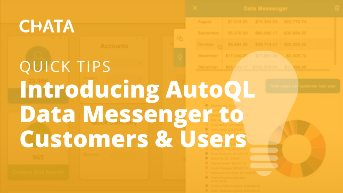 Introducing AutoQL DataMessenger to Customers & Users