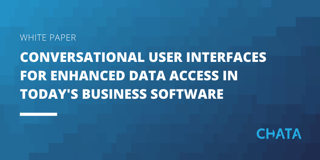 Conversational AI resources: conversational user interfaces for enhanced data access in today's business software white paper cover