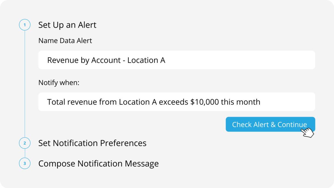 Data Alerts set up